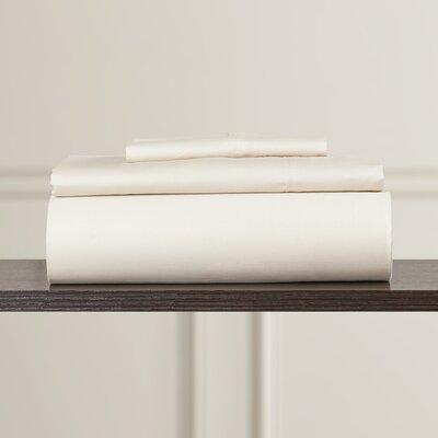 Brooklyn 300 Thread Count Egyptian 100% Cotton Sateen Deep Pocket Sheet Set Size: California King, Color: Linen
