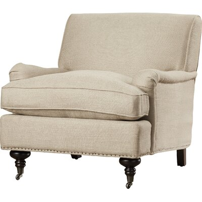 Linen Arm Chair Color: Antique Gold