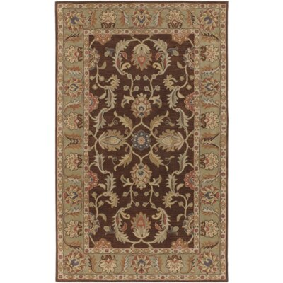 Waterston Floral Brown Area Rug Rug Size: 5 x 8