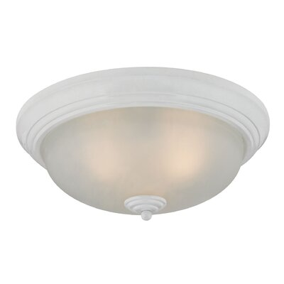 Milwaukee 3-Light Flush Mount Finish: White