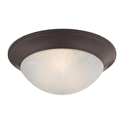 Little Rock 2-Light Flush Mount Finish: Oil Rubbed Bronze