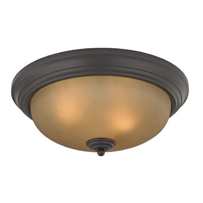 Centralhatchee 3-Light Flush Mount Shade Color: Light Amber