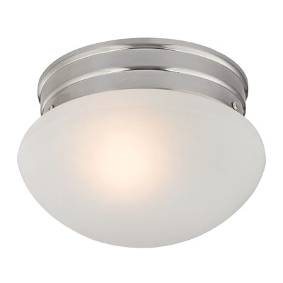Cedar Rapids 1-Light Flush Mount Finish: Brushed Nickel