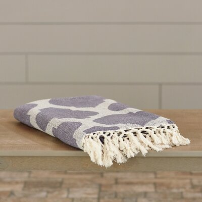 Kemp Throw Blanket Color: Charcoal / Ivory