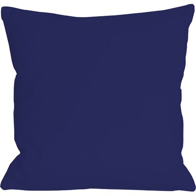 Bergfield Solid Throw Pillow Color: Whale Blue