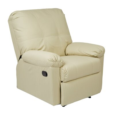 Androscogin Manual Recliner Upholstery: Cream