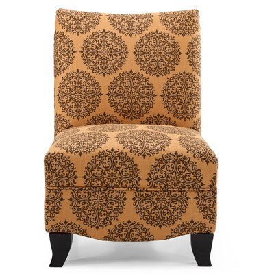 Dixie Gabrielle Slipper Chair Upholstery: Spice