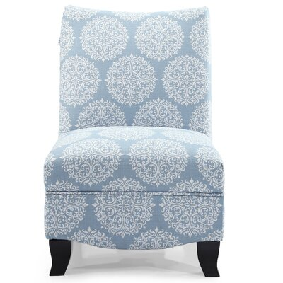 Dixie Gabrielle Slipper Chair Upholstery: Sky