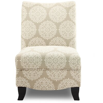 Dixie Gabrielle Slipper Chair Upholstery: Pearl