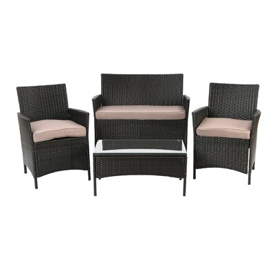 Bellevue 4 Piece Seating Group with Cushion
