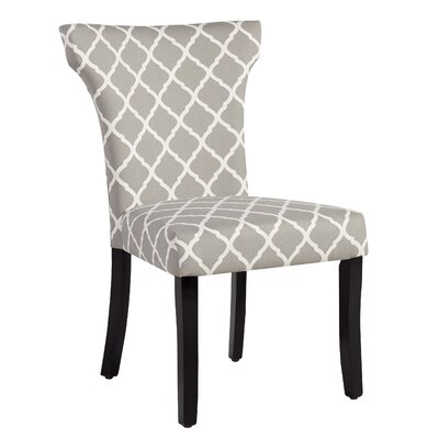 Plainville Lattice Side Chair Upholstery: Gray Lattice