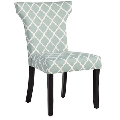 Plainville Lattice Side Chair Upholstery: Sea Foam Lattice