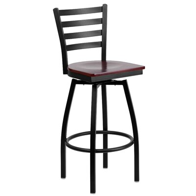 Alhambra 30.25 Swivel Bar Stool Seat Finish: Mahogany
