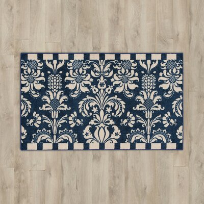 Poquonock Navy/White Area Rug