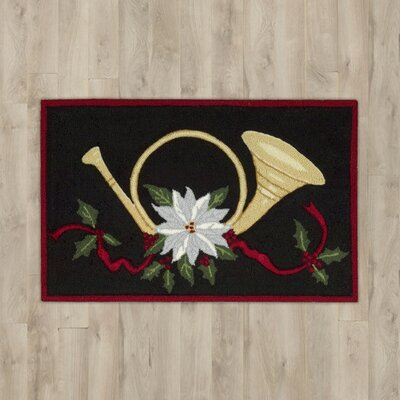 Arpdale Black Horn & Bow Area Rug