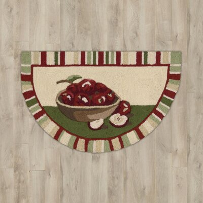 Arpdale Beige Apples Slice Area Rug