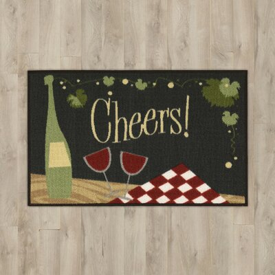 Amberwood Black Wine Area Rug