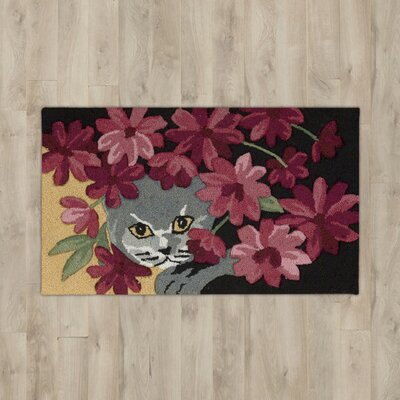 Arpdale Black Cat Area Rug