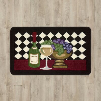 Poquonock Black Wine Area Rug