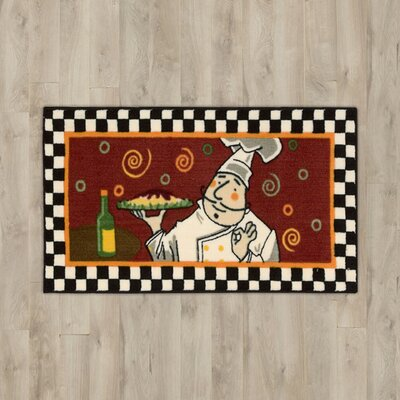 Poquonock Red Chef Area Rug