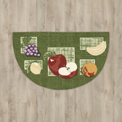 Callanish Green Fruits Slice Area Rug Rug Size: 26 x 16