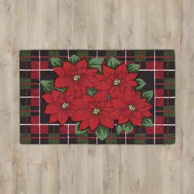 Hanson Poinsettia Red Area Rug Rug Size: 110 x 42