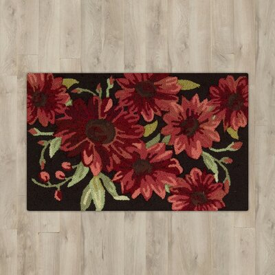 Arpdale Red Flower Area Rug