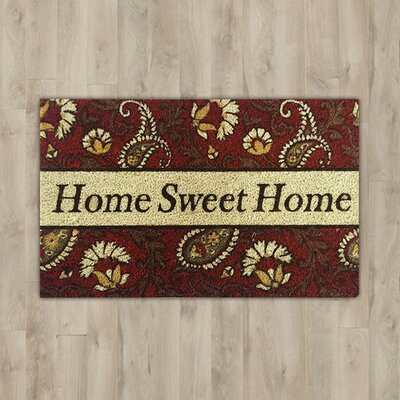 Acorn Grove Home Sweet Home Doormat Mat Size: Rectangle 18 x 310, Color: Orange