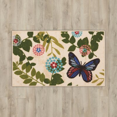 Amberwood Beige Butterfly Area Rug