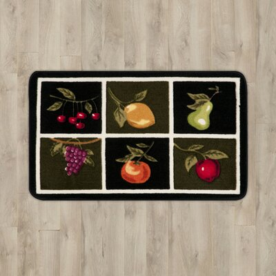 Poquonock Black/White Fruit Area Rug