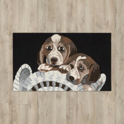 Arpdale Black Beagles Area Rug