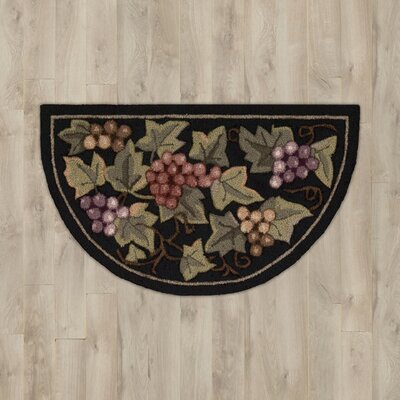 Arpdale Grapes Black Area Rug Rug Size: Runner 23 x 76