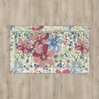 Callanish Beige Floral Area Rug