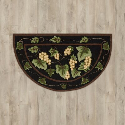 Arpdale Black/Yellow Grapes Area Rug
