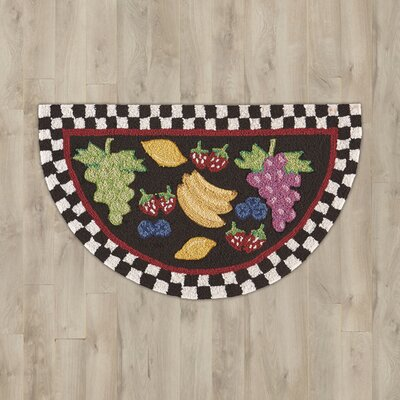 Arpdale Black Fruit Area Rug