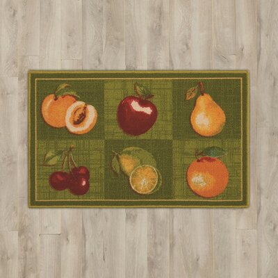 Amberwood Green Fruits Area Rug
