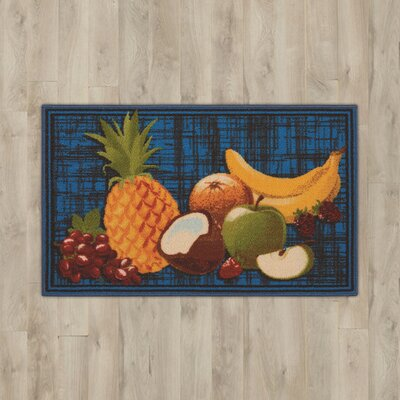 Amberwood Blue Fruits Area Rug