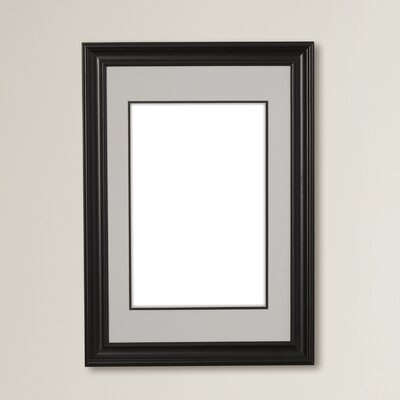 Brodnax Matted Wall Portrait Picture Frame Color: Black, Size: 11