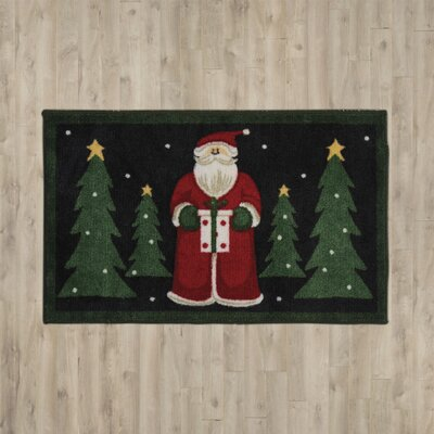 Groveland Santa Black Area Rug