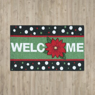 Hanson Welcome Green Area Rug