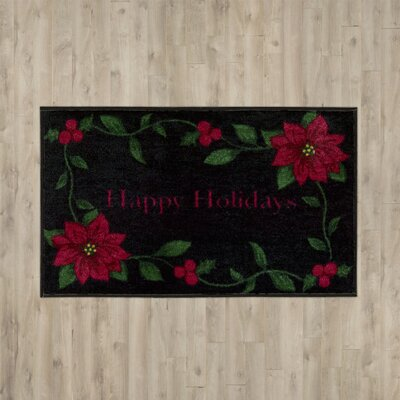 Berlin Happy Holiday Black Area Rug