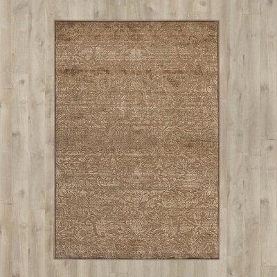 Soft Anthracite/Camel Area Rug Rug Size: 33 x 57
