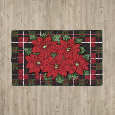 Hanson Poinsettia Red Area Rug Rug Size: Rectangle 15 x 24
