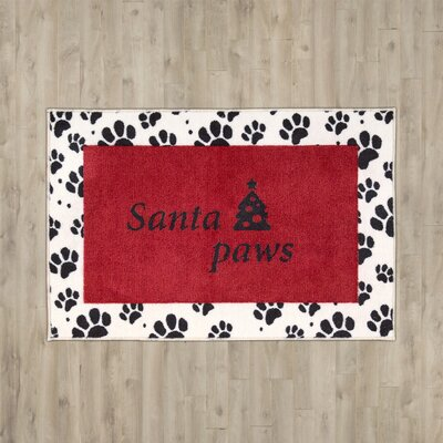 Groveland Santa Paws Red Area Rug