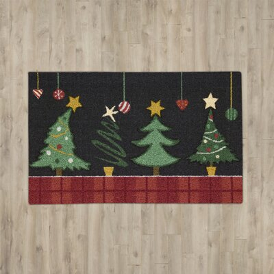 Hanson Christmas Tree Black/Green Area Rug