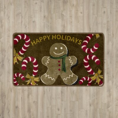 Groveland Gingerbread Man Brown Area Rug