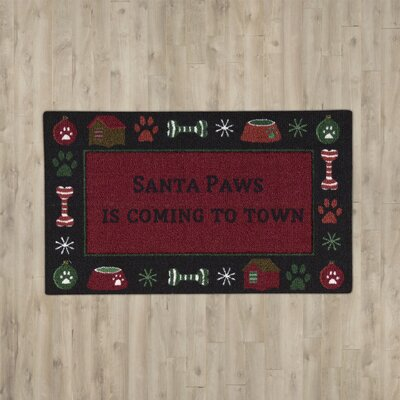 Hanson Santa Paws Red Area Rug