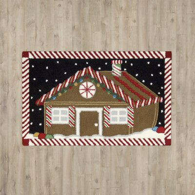Monahan Gingerbread House Area Rug