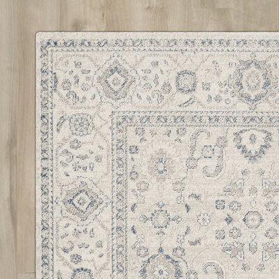 Nielsen Light Grey / Ivory Area Rug Rug Size: Square 67 x 67