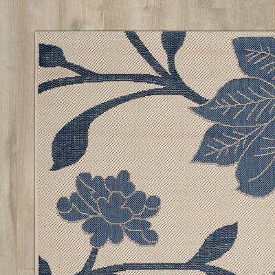 Alderman Beige / Blue Indoor / Outdoor Area Rug Rug Size: Runner 23 x 67